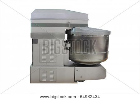 spiral dough mixer under the white background
