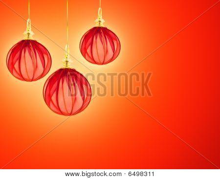 Beautiful Background With Elegant Christmas Decorations
