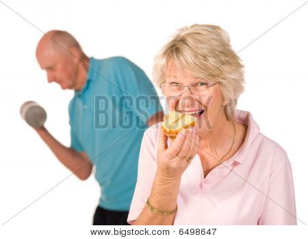 Mature Lady Cheating On Diet