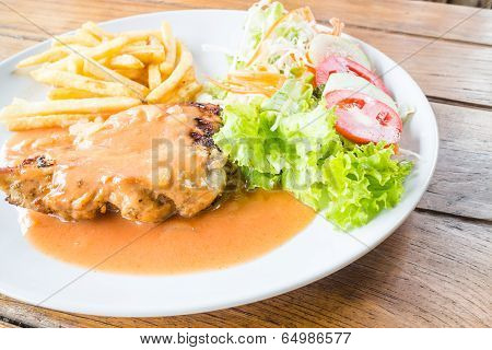 Ready To Eat Grilled Chicken Steak