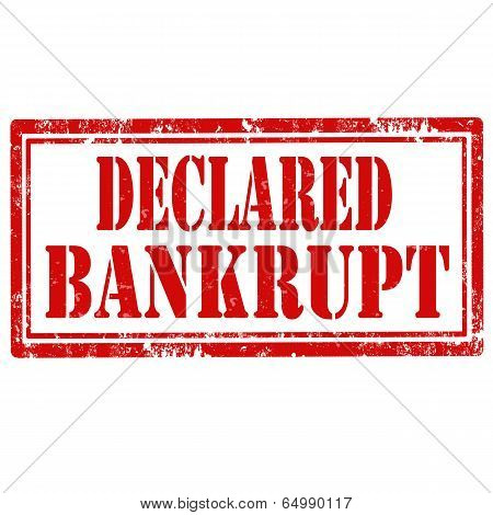 Declared Bankrupt-stamp