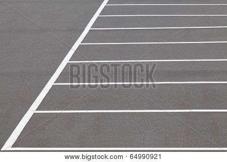 Empty Space in a outdoor Parking Lot