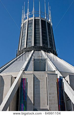 Liverpool UK, 26 April 2014.Metropolitan Cathedral, Liverpool, Uk