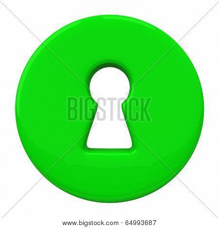 Green key hole, 3d