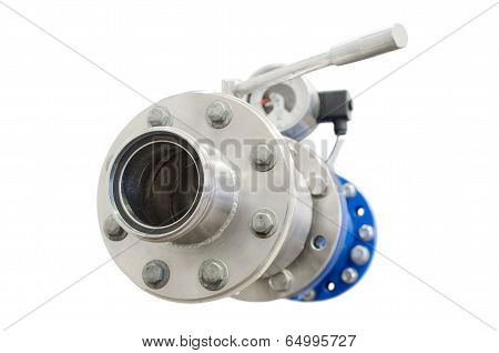 Petrol Gasoline Fuel Pipe With Flange Valve And Manometer