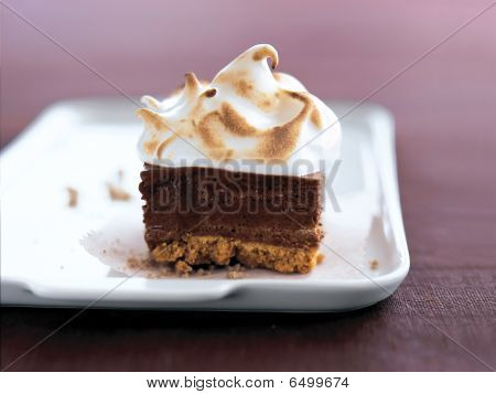 Chocolate Cake With Vanilla Creme