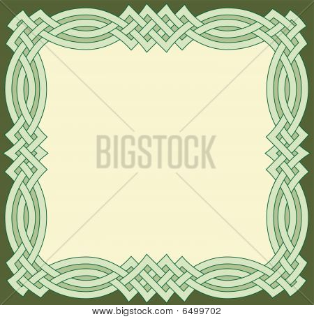 Green Celtic Frame
