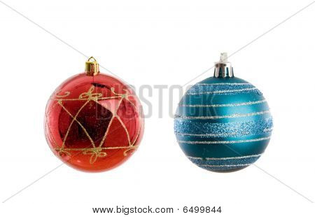 Red And Blue Balls Of Christmas