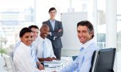 foto of people work  - Business Group Showing Ethnic Diversity in a meeting - JPG