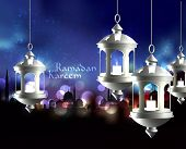 pic of pelita  - Vector 3D Muslim Oil Lamp - JPG