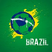 stock photo of brazilian carnival  - Brazil football background - JPG