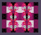 pic of emo  - Abstract emo pattern with skull  - JPG