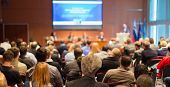 stock photo of audience  - Business Conference and Presentation - JPG
