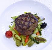 image of rib eye steak  - Grilled rib - JPG