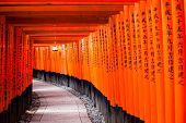 stock photo of inari  - Fushimi Inari Taisha Shrine in Kyoto Japan