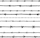 image of metal grate  - Barbed wire seamless background - JPG