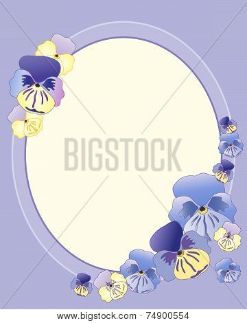 Pansy Greeting Card