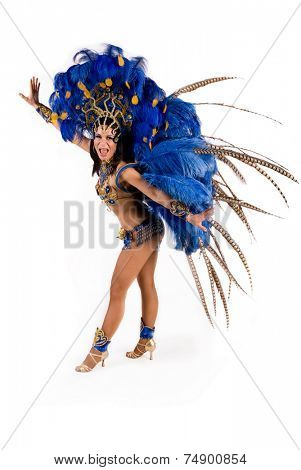 Beautiful carnival dancer, amazing costume