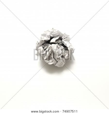 White Crumpled Paper Ball
