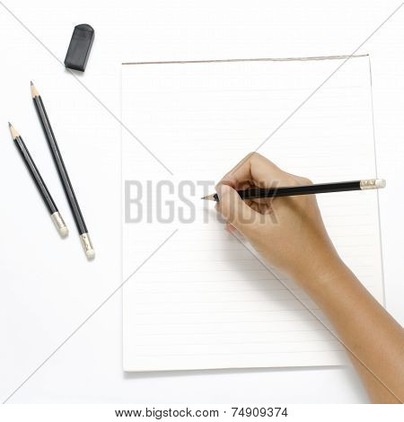 Right Hand Writing On Paper
