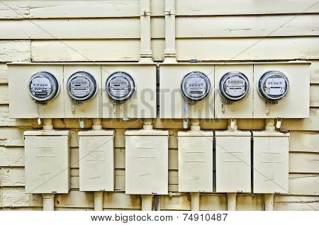 Electric Meters On Old Home
