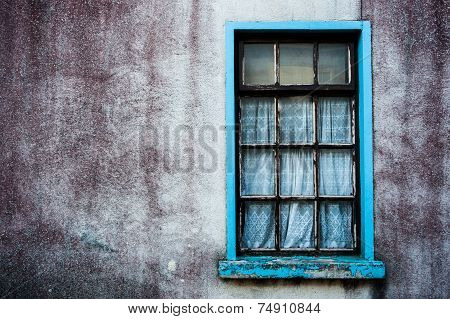 old grungy wall and window
