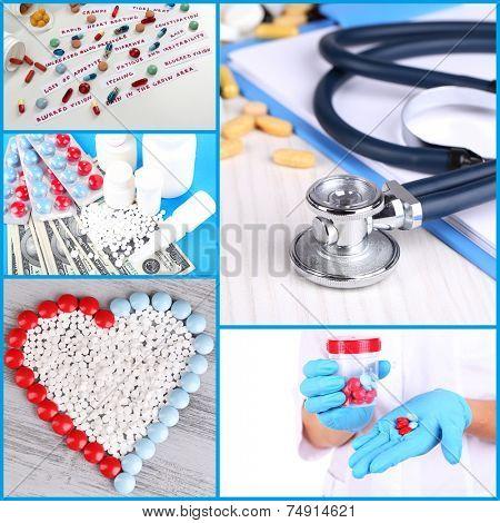 Medicine collage