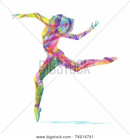 vector abstract dancer silhouette