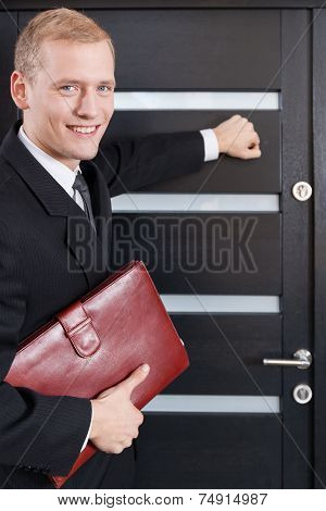 Portrait Of Door-to-door Salesman