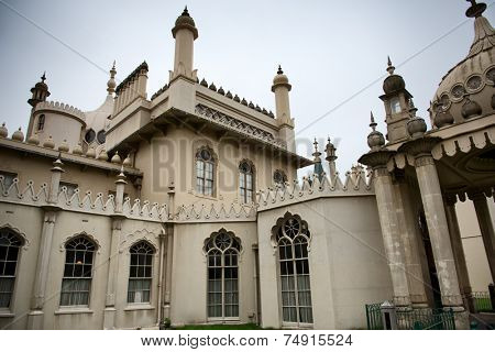 Close Up of Architectural Exterior of Brighton Royal Pavilion, Brighton, England