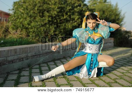 Cosplayers Street Fighter Chun Li