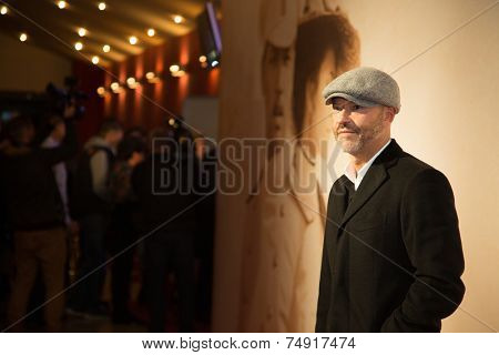 MOSCOW - OCTOBER, : Director F. Bondarchuck. Premiere of the movie Solnechny Udar, October, , 2014 at Octyabr Cinema in Moscow, Russia