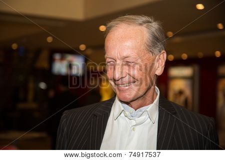 MOSCOW - OCTOBER,7 : Mikhail Zadornov . Premiere of the movie Solnechny Udar, October,7 , 2014 at Octyabr Cinema in Moscow, Russia