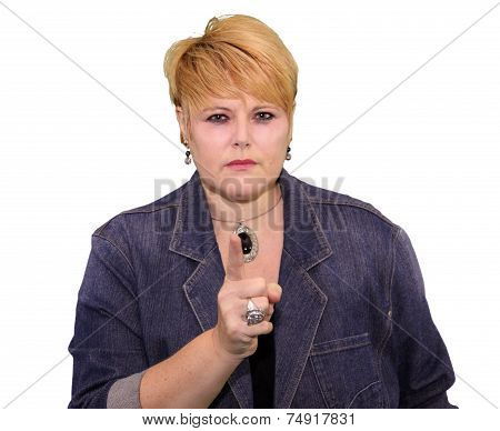 Mature Woman Body Language - Angry Warning
