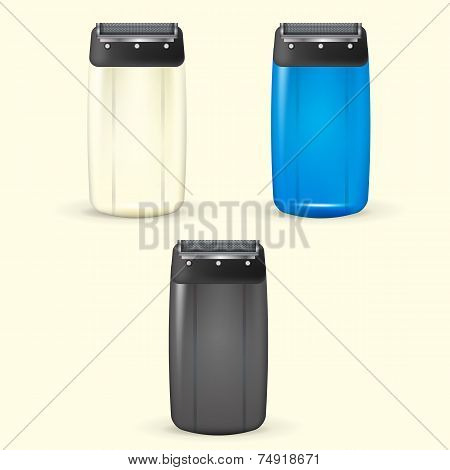 Vector illustration of electric shavers