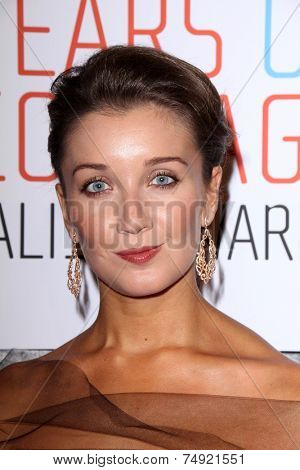 LOS ANGELES - OCT 28:  Carly Paoli at the 25th Courage In Journalism Awards at the Beverly Hilton Hotel on October 28, 2014 in Beverly Hills, CA
