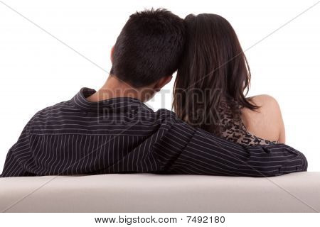 Young Couple On The Couch
