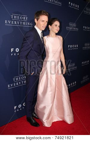 LOS ANGELES - OCT 24:  Eddie Redmayne, Felicity Jones at the