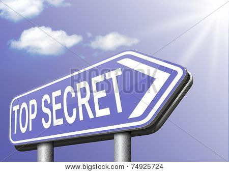 top secret confidential document or file and classified info private property or information sign