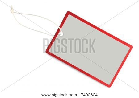 Blank Sale Tag Label Isolated Closeup Macro