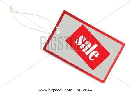 Sale Tag Label Isolated Closeup Macro