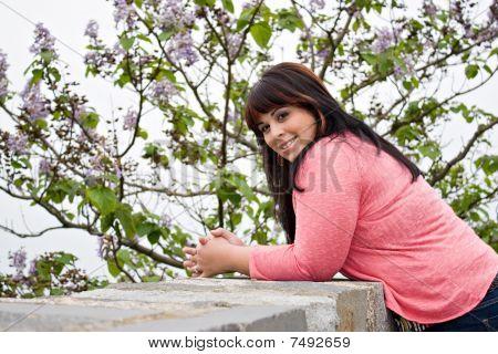 Mulher sorridente