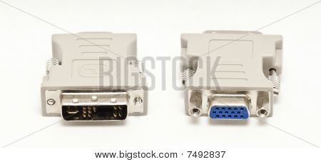 Dvi / Vga Adapter Isolated