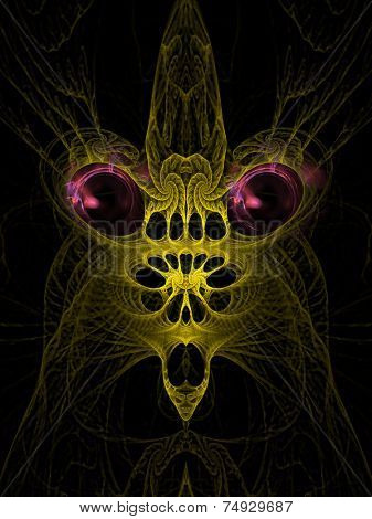 Abstract artistic scary creature