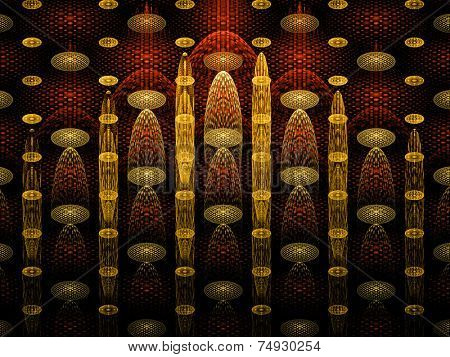 Abstract artistic conceptual fantasy digital illustration