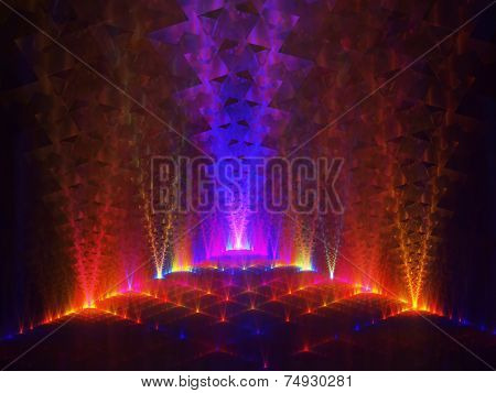 Abstract colorful lighting background