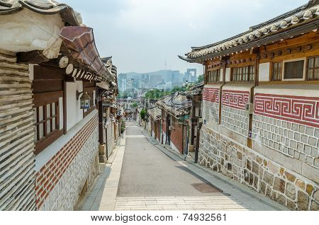 Bukchon Hanok Village ,Seoul South Korea