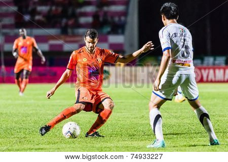 Sisaket Thailand-october 22: Victor Amaro Of Sisaket Fc. In Action During Thai Premier League Betwee
