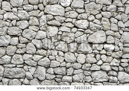 Stone Wall With Random Tiled Pattern