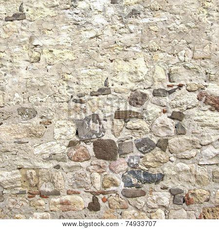 White Concrete Stone Wall